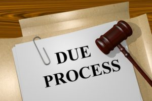 50158822 - render illustration of due process title on legal documents